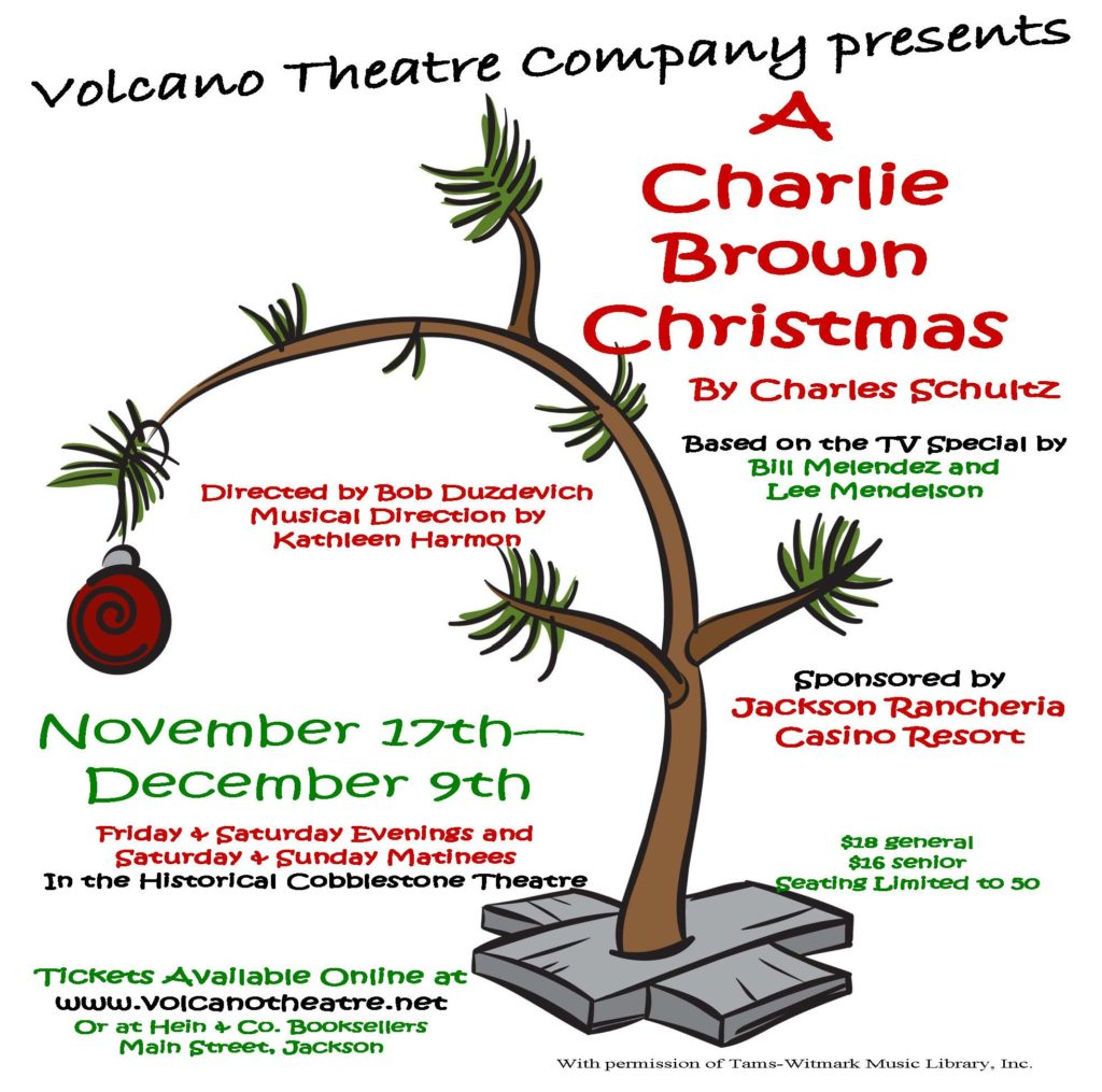 A charlie brown christmas volcano theatre company for Bunting roofing iowa city